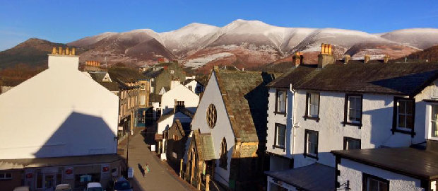 Keswick rooftops from the George Fisher webcam